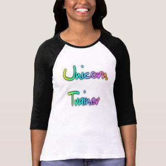 Arco iris del instructor del unicornio camiseta