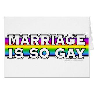 Arco iris del matrimonio homosexual tarjeta de felicitación