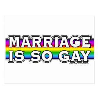 Arco iris del matrimonio homosexual tarjeta postal