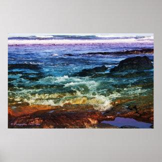 Arco iris del océano de colores posters