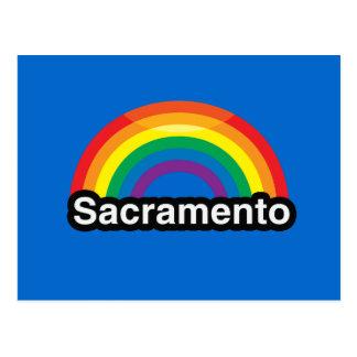 ARCO IRIS DEL ORGULLO DE SACRAMENTO LGBT POSTAL