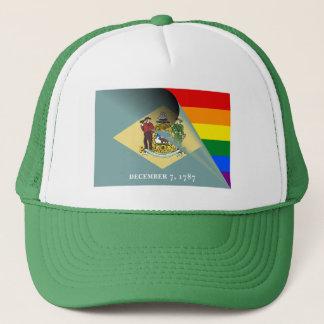 Arco iris del orgullo gay de la bandera de gorras de camionero