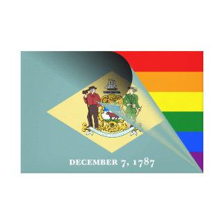 Arco iris del orgullo gay de la bandera de lienzo