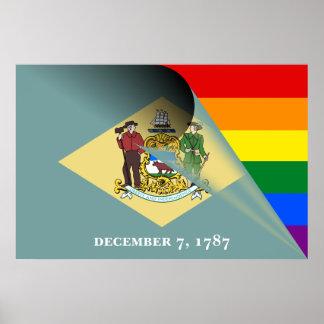 Arco iris del orgullo gay de la bandera de póster