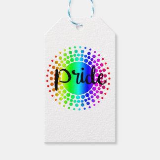 Arco iris del orgullo gay etiquetas para regalos