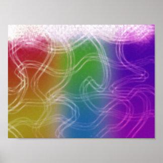 Arco iris del poster del aire póster