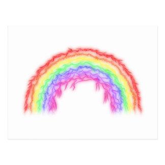 Arco iris del relámpago postal