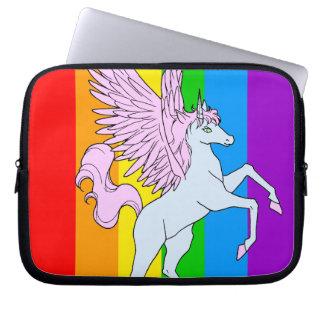 Arco iris del unicornio del tigre 80s de Corey Fundas Computadoras