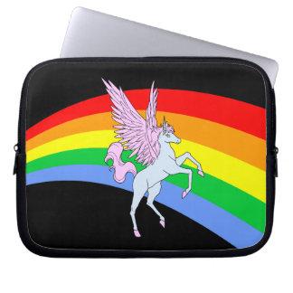 Arco iris del unicornio del tigre 80s de Corey Mangas Computadora