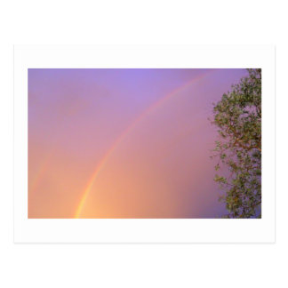 Arco iris del verano postal