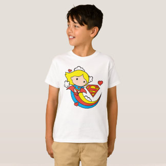 Arco iris del vuelo de Chibi Supergirl Camiseta