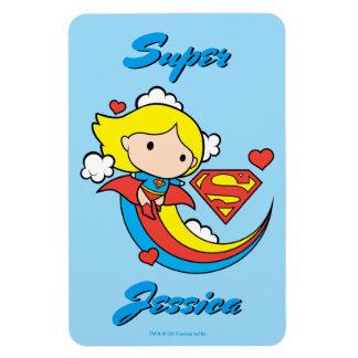 Arco iris del vuelo de Chibi Supergirl Iman