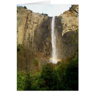 Arco iris durante las caídas de Bridalveil Tarjeta De Felicitación