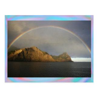 Arco iris en Chile en una postal