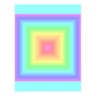 Arco iris en colores pastel geométrico postal