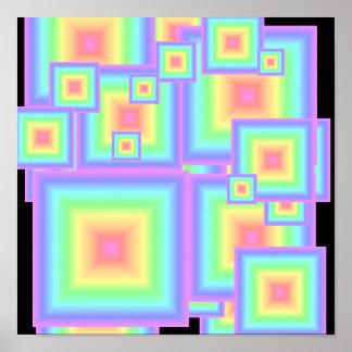 Arco iris en colores pastel geométrico impresiones