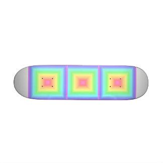 Arco iris en colores pastel geométrico patín
