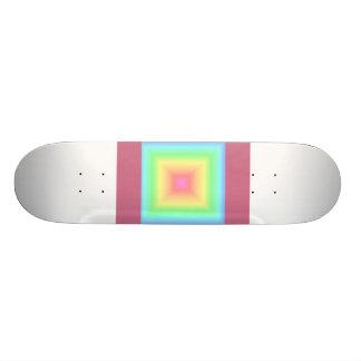 Arco iris en colores pastel geométrico patines