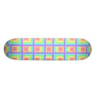 Arco iris en colores pastel geométrico monopatines personalizados