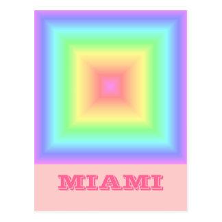 Arco iris en colores pastel geométrico tarjetas postales