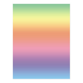 Arco iris en colores pastel postal