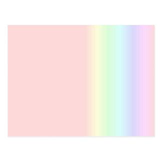 Arco iris en colores pastel postales