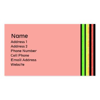 arco iris en colores pastel tarjetas de visita