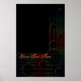 Arco iris en el poster del arte negro