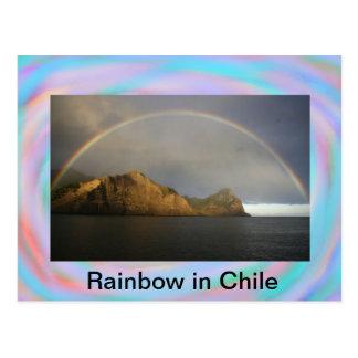 Arco iris en la postal de Chile