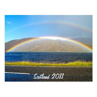 Arco iris escocés postal