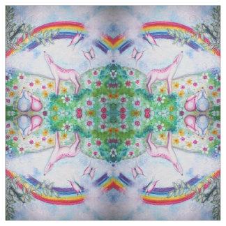 Arco iris feliz tela