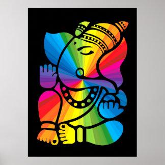 Arco iris Ganesha Poster