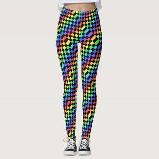 Arco iris geométrico leggings