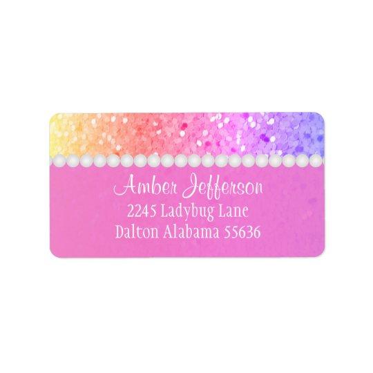 Arco iris Glitterl: Etiquetas de dirección