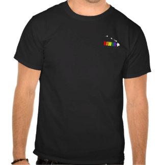 Arco iris hawaiano 3 camiseta