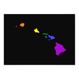 Arco iris hawaiano invitación 12,7 x 17,8 cm