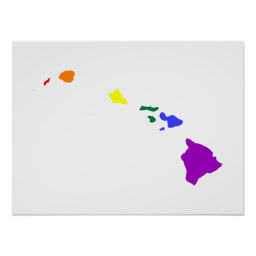 Arco iris hawaiano posters