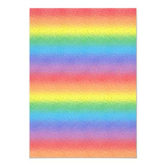 Arco iris helado invitación 12,7 x 17,8 cm