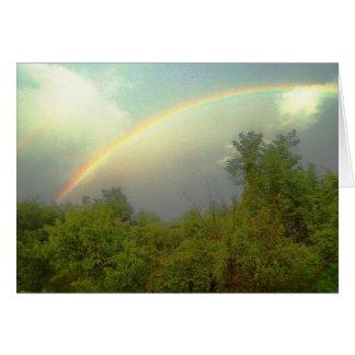 Arco iris hermoso tarjeta de felicitación