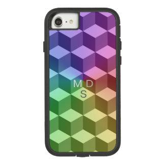Arco iris isométrico geométrico funda tough extreme de Case-Mate para iPhone 7