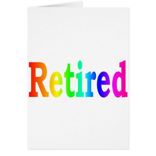 Arco iris jubilado tarjetas