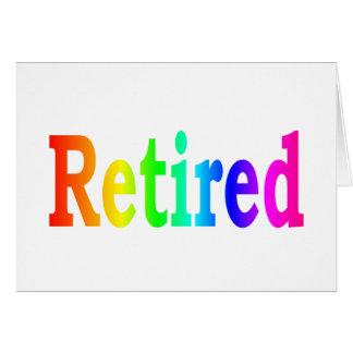 Arco iris jubilado tarjeton