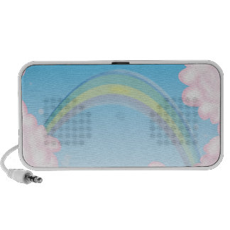 arco iris lindo en las nubes mini altavoces