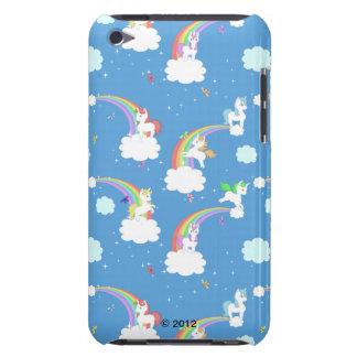 Arco iris lindos y unicornios iPod touch cárcasa