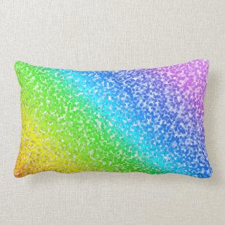 Arco iris linear del modelo en colores pastel y cojín lumbar