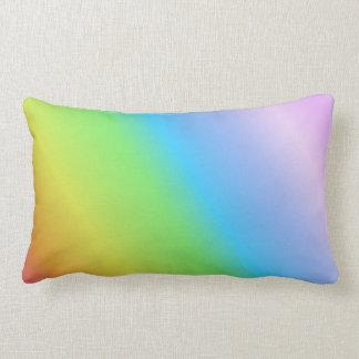Arco iris linear en colores pastel cojín lumbar