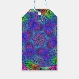 Arco iris líquido etiquetas para regalos