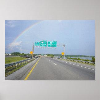 Arco iris lleno 1 póster