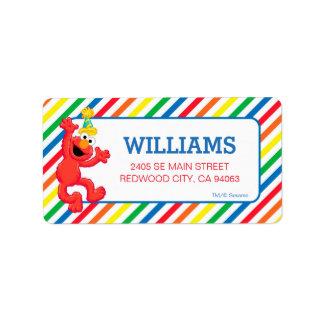 Arco iris neutral del Sesame Street el   Elmo Etiqueta De Dirección