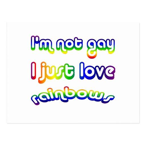 Arco iris no gay sino del amor tarjeta postal